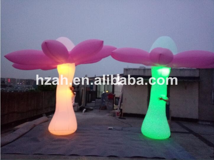 Party Decoration Inflatable Standing Flower With Light