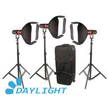 Luz diurna LED enfocable, 3 uds., Boltzen, 55w, Fresnel, CAME TV, luz Led para vídeo