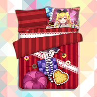 Anime Cartoon Nisemonogatari OshinoShinobu Quilt Cover Bedding Set With Pillow Cases Bed Sheet Duvet Cover Set 4pc No.CP151205