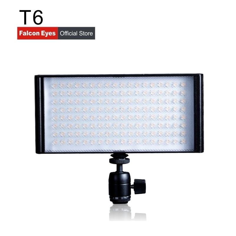 Falcon Eyes Bi-color Led Video Studio Panel Light Continuous Mini Lamp Portable Dimmable Fotografia On Camera Or Stand T6