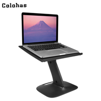 Portable Car Table Multifunctional Plastic Computer Desks Clip Leg Laptop Holder Folding Notebook Stand Black For
