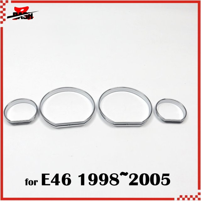 Dash For Bmw E46 1998 2005 Chrome Cluster Gauge Dash Board Ring Abs