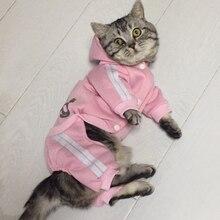 Модная одежда для кошек, зимняя теплая хлопковая одежда для кошек, одежда для любимцы котята, одежда Kedi Gatto, пальто с капюшоном, куртки, товары для домашних животных