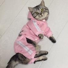 Moda gato, ropa para gatos, invierno cálido algodón gato ropa para mascotas, gatito traje Kedi Gatto Abrigo con capucha chaquetas mascotas productos