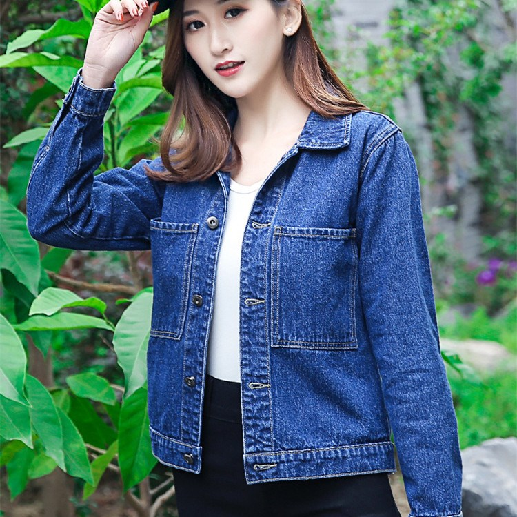 New Fashion Women Solid Denim   Basic     Jacket   2018 Autumn Winter Pocket Button Slim Coats Casual Female Jeans Outerwear