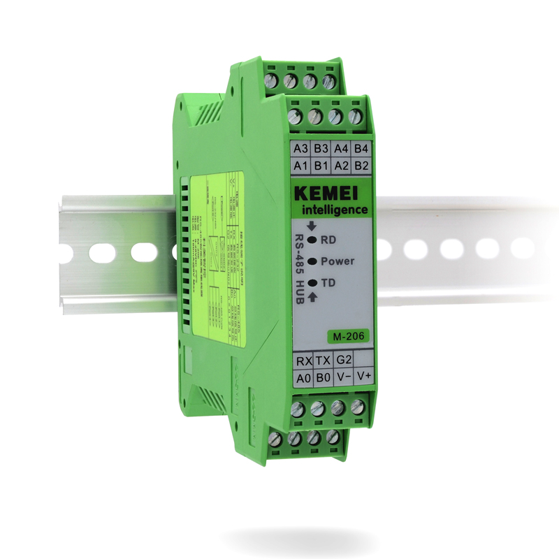 RS485 Hub Sharing Device 4 Ports 1 Points 4 RS232/RS485 Converter Photoelectric Isolation Communication Module 5 port rs485 hub bidirectional hub dmx512 photoelectric isolation industrial 1 tow 4 copy type