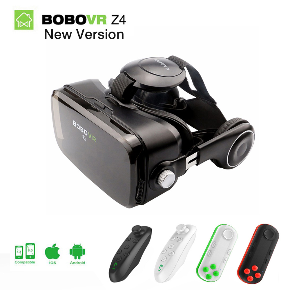 Originale Bobovr z4 vr headset 3d virtual reality glasses VR goggles Gear Bobo Z4 mini 3D vr box for 4.7-6.2 inch Smartphone 2.0 hot sale google cardboard vr case 5plus pk bobovr z4 vr box 2 0 vr virtual reality 3d glasses wireless bluetooth mouse gamepad