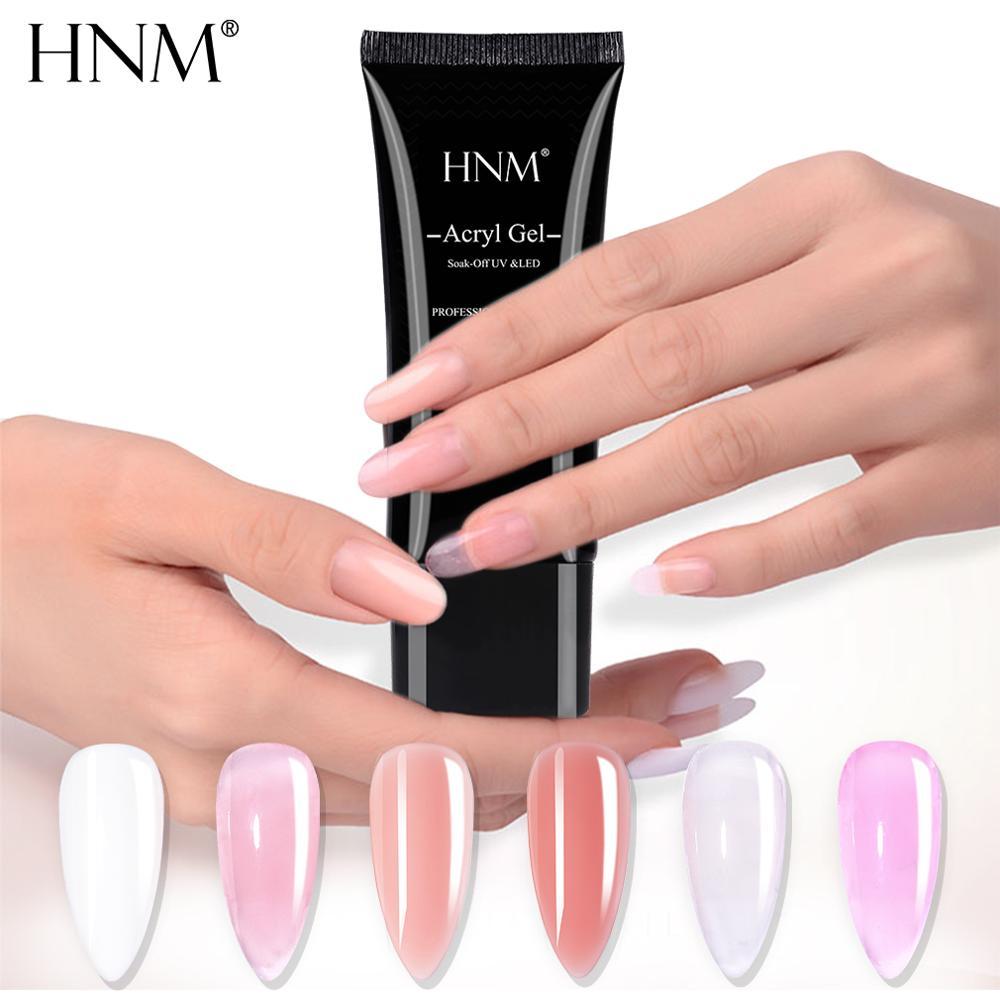 HNM 30ML UV Poly Gel Builder Nail Acryl DIY Extension Acrylic Poligel Acrylgel Nail Forms Sticker Pen Brush For Nails Polish Art
