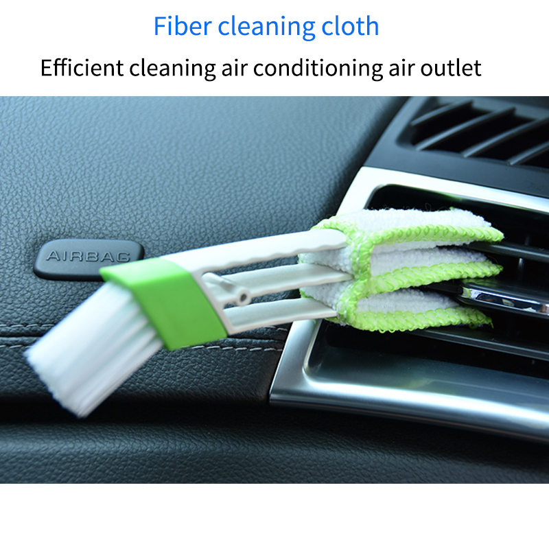 Latest Multifunctional Cleaning Brush Car Air Conditioning Air Outlet Crevice Brush Car Dashboard Brush Computer Keyboard Brush