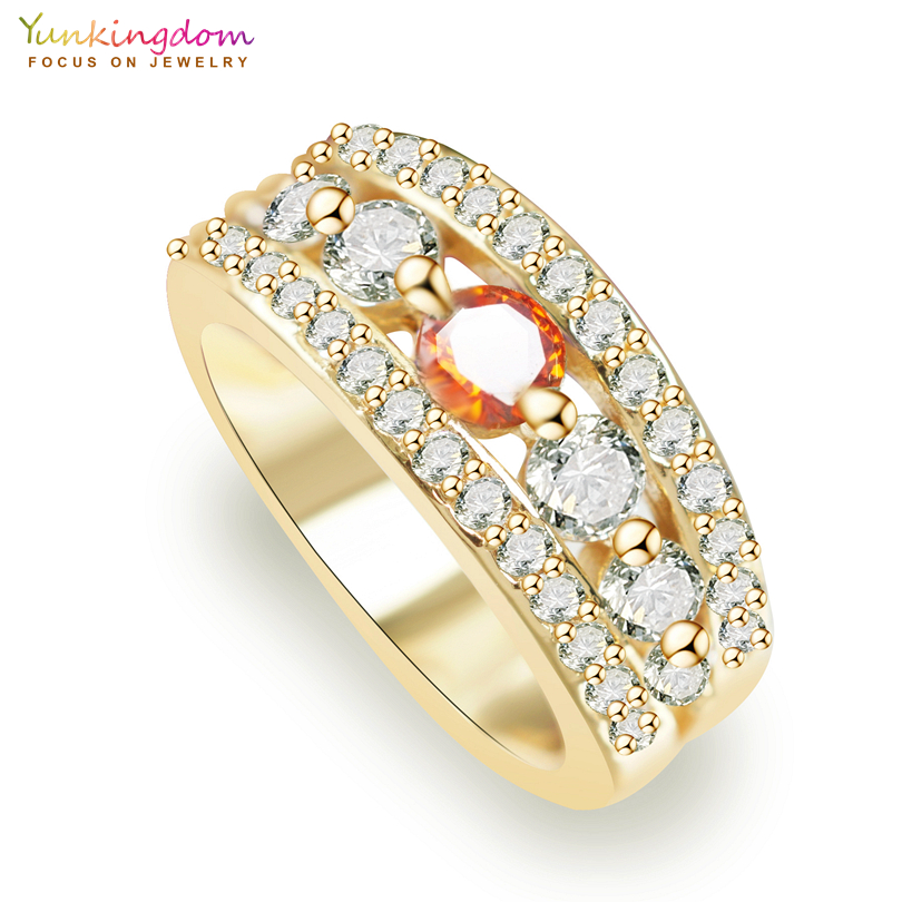 Yunkingdom Red Cubic Zirconia Wedding Rings For Women ...