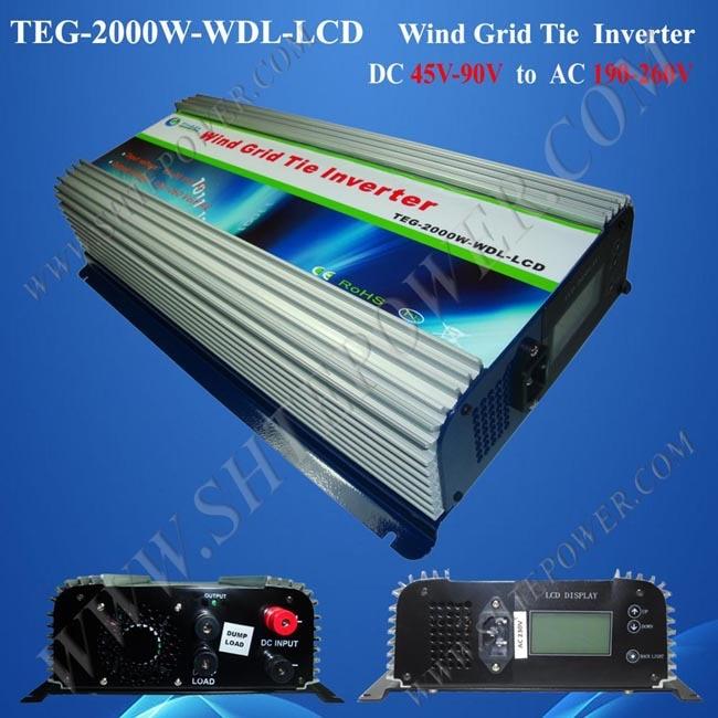 grid tie inverter 2000 watt home wind inverter dc 48v to ac 240v inverter on grid maylar 22 60vdc 300w dc to ac solar grid tie power inverter output 90 260vac 50hz 60hz