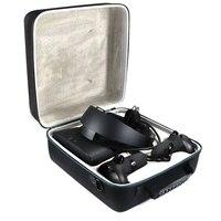 Caso de transporte duro quente para oculus rift s pc-powered vr gaming headset caixa de armazenamento de proteção de viagem (preto + cinza)