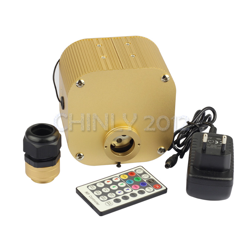 CREE chip 16W RGBW LED twinkle Fiber Optic Engine Driver with 28key RF Remote controller for