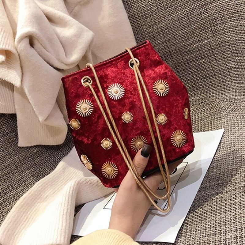 Luxury Handbags Women Bags Designer Shoulder Bags Velvet Messenger Bag Chain Small Crossbody Bags For Women 2019 bolsa feminina