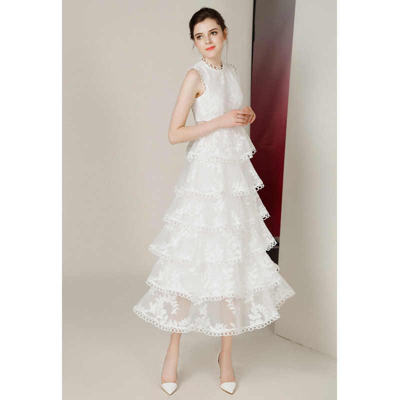 Verkauf schwarz/weiß spitze nähte aushöhlen sommer kleid mode Dünne Oansatz Sexy vestidos elegante abend party Casual Kleider