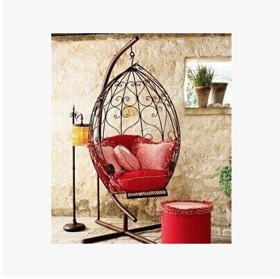 European Style Wrought Iron Swing Wrought Iron Patio Outdoor Swing Swing  Swing Indoor Recreation Spot