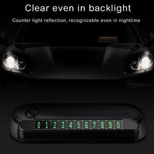 Image 5 - Baseus carta di imballaggio per auto temporanea per luce notturna per auto numero di telefono targa di notifica organizzatore di cavi supporto per telefono cellulare