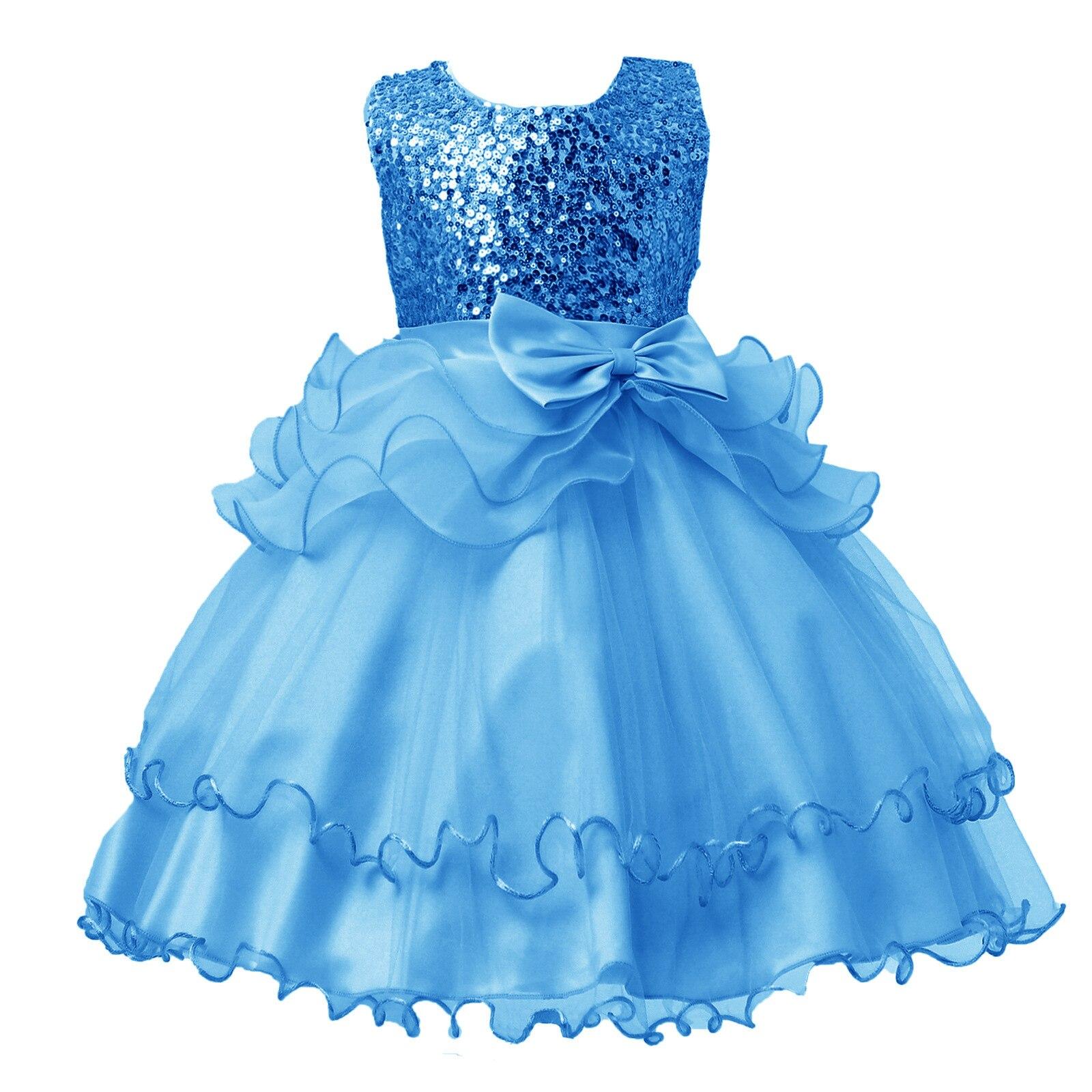 2017 new Spring Children dress Sequins princess Bow wedding Flower ...