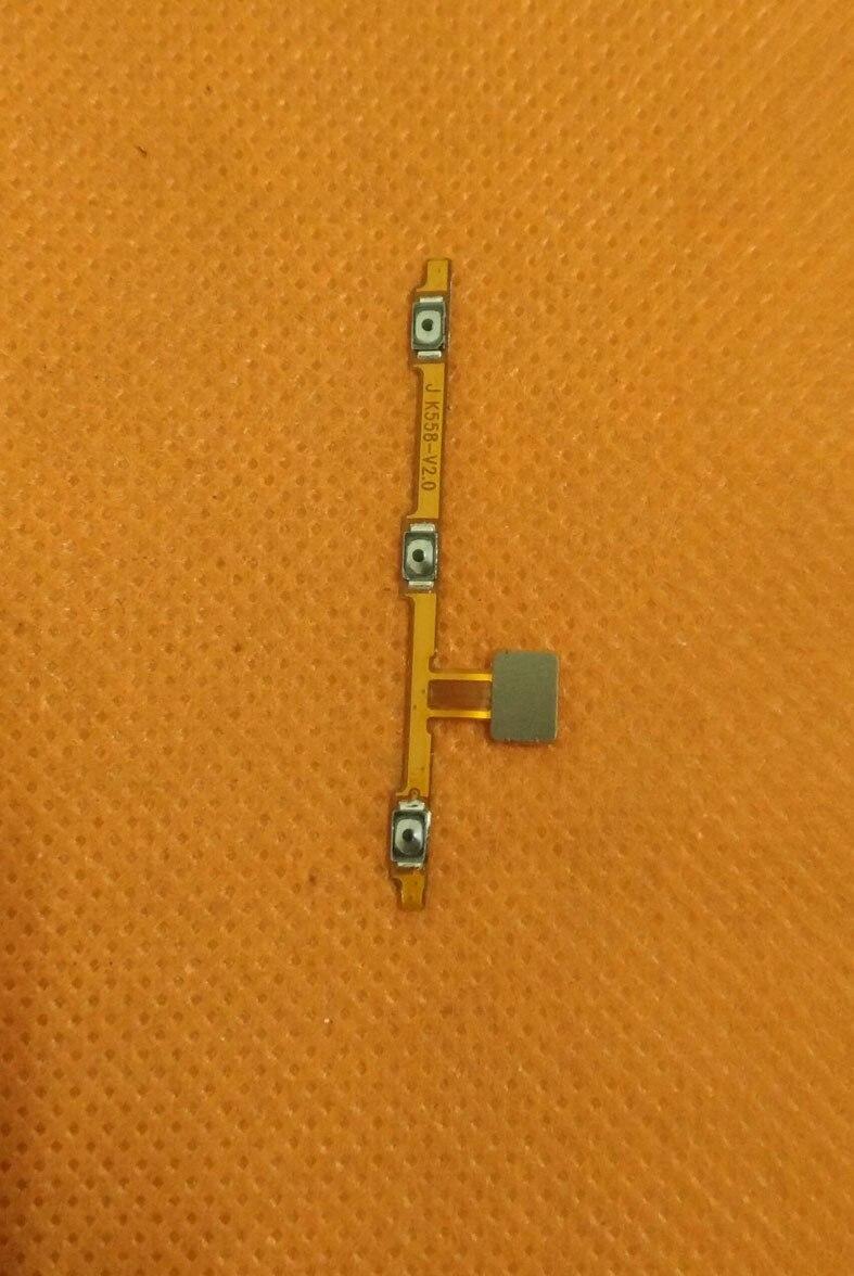 Usado Original Power On Off Botão de Volume Chave Cabo Flex FPC para Vernee Apollo MTK6797T Deca Núcleo 5.5
