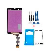 Получить скидку Хорошее качество ремонт Запчасти для Sony Xperia Sony Z L36 LT36 C6602 C6603 ЖК-дисплей Дисплей + Сенсорный экран планшета Ассамблея + Инструменты + Клейкие ленты