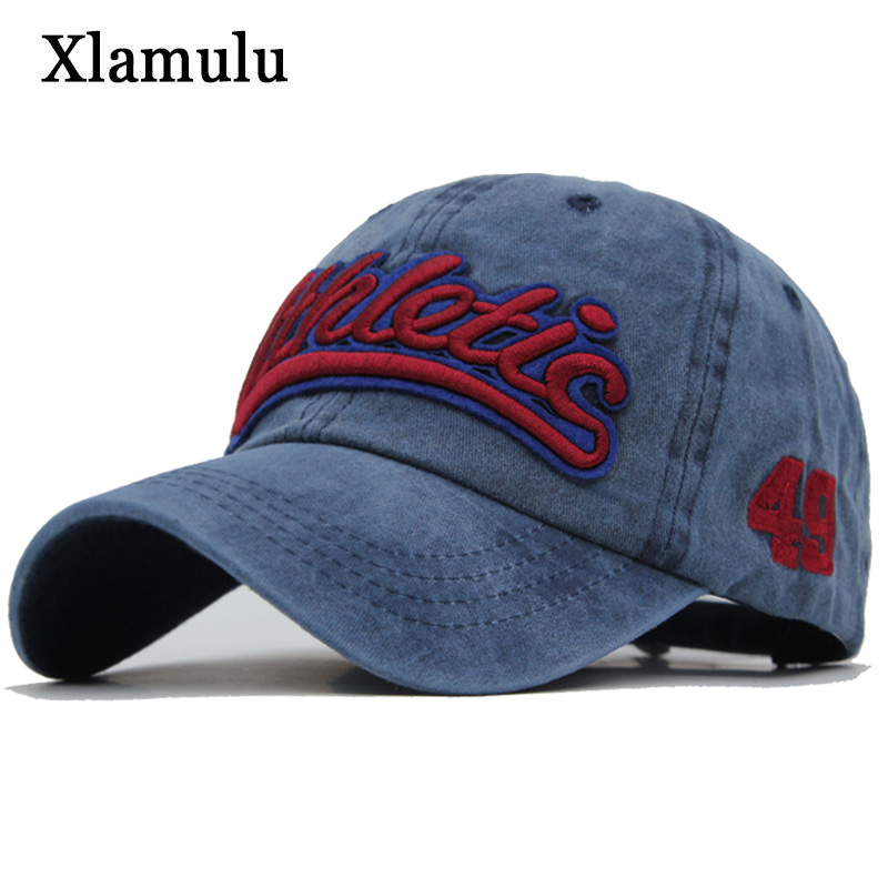 Xlamulu Washed Cotton Men Baseball Cap Snapback Hats For Women Embroidery Baseball Hat Letter Bone Gorras Casquette Male Cap aetrue brand men snapback caps women baseball cap bone hats for men casquette hip hop gorras casual adjustable baseball caps