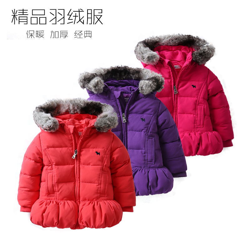 New 2015 autumn winter down jacket for girls clothes children High Quality fashion hooded down coat kids warm OUTERWEAR стоимость