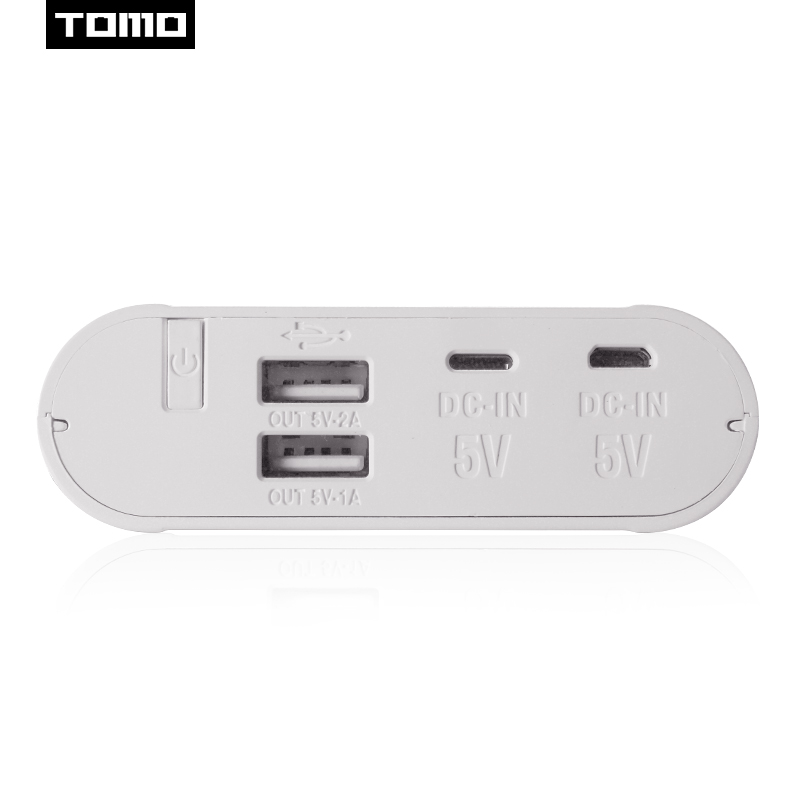 TOMO 18650 battery charger case 2 input T4 portable DIY display powerbank 5V 2.1A output max