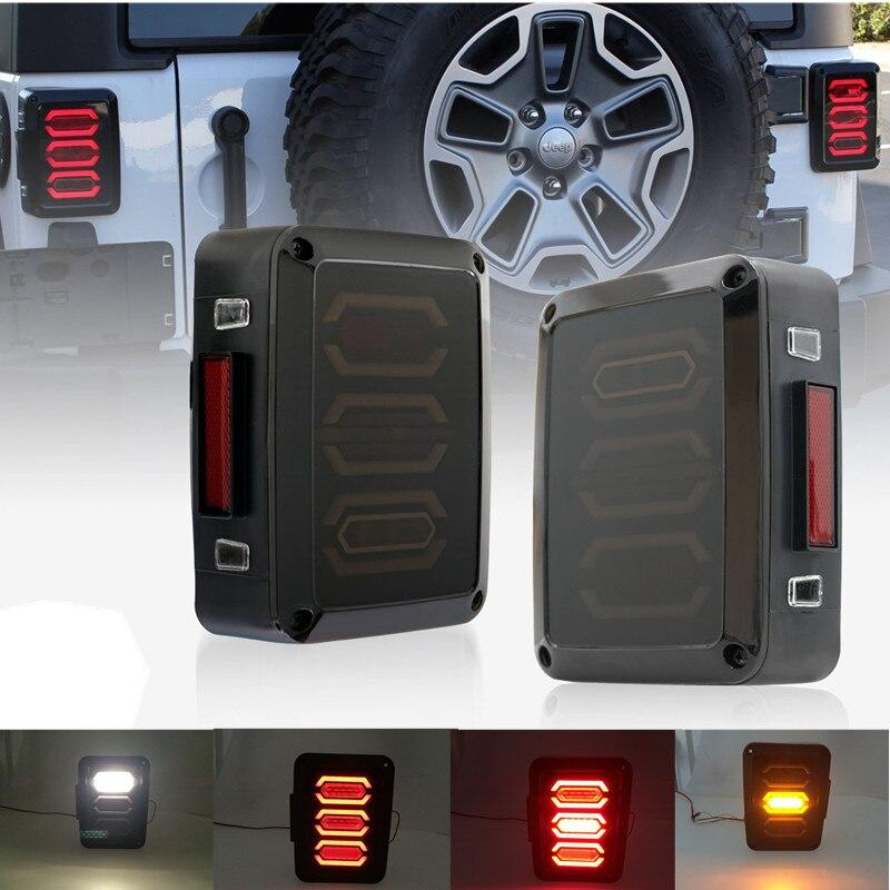 Taillight Series For Jeep JK Wrangler 07-16 JK LED Brake Tail Lights Bulb Assembly Conversion Rear Turn Signal Reverse lights for jeep wrangler jk anti rust hard steel front