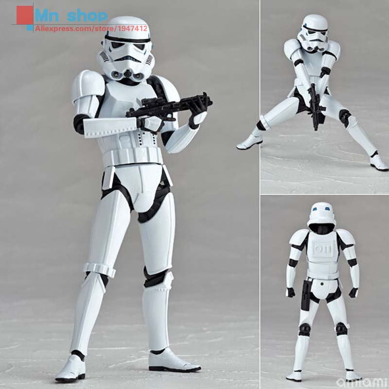 Free shipping Crazy Toy Star Wars Clone Trooper Stormtrooper PVC Action Figure Collection Toys 820cm  P20