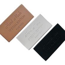 48 stücke hand made leder tags für kleidung leder etiketten für kleidung handgemachte tag für handarbeit custom geschenk nähen leder etiketten