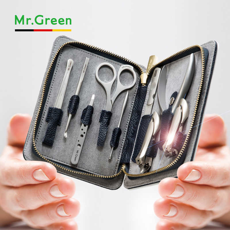 MR. GROEN pedicure set nagelknipper rvs professionele nagelknipper met lederen case manicure set nagel set gereedschap nagels