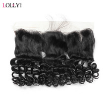 Lolly Peruvian Loose Wave Lace Frontal 130% Density Ear to Ear Pre Plecked Lace Frontal Closure Non Remy Human Hair Frontal 13x4
