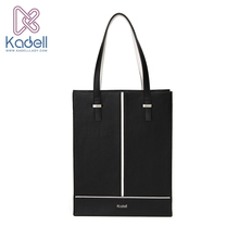 Kadell New Luxury Handbags Women Bags Designer 2016 Office Lady Vertical Shoulder Bags Black White PU Leather Casual Tote Bag