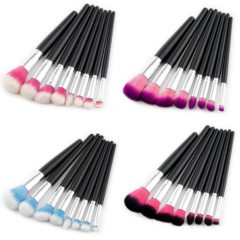 8 Pcs Professional Makeup Brushes Tools Kit Power Foundation Blush Eye Shadow Blending Cosmetic Beauty Make Up Brush Maquiagem