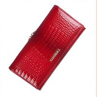 Brand Genuine Leather Womens Wallets Alligator Leather Purses Female Long Wallet Coin Purse Ladies Designer Wallet