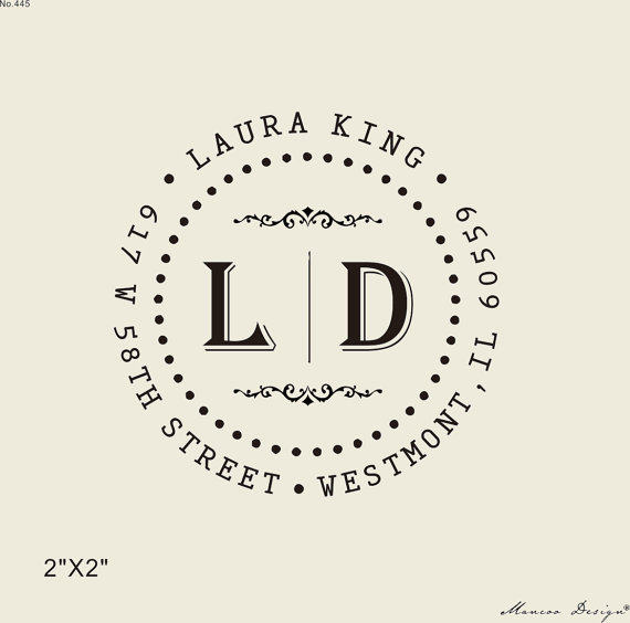 online shop 2 x2 initial and family name self inking stamp
