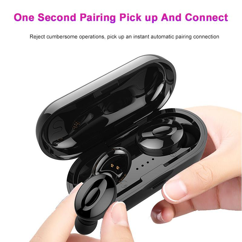 BEESCLOVER Wireless Ear Air Earphones Active Noise Cancellation Earbuds XG-<font><b>15</b></font> <font><b>TWS</b></font> 5.0 Bluetooth Earphone Gaming Earset r25 image