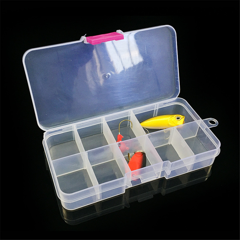 Bait Organizer Box Fishing Lures Case Tackle Storage Fisher Gear Bulk New Outdoor 15 Slots Adjustable Plastic Fishing box Lure H