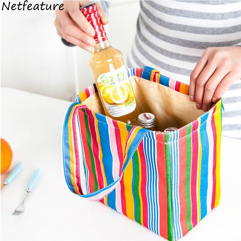 2017New Portable Thermal Insulated Lunch Bag Waterproof Storage Bags Lady Carry Picinic Food For Women Kids Cooler Box Organizer