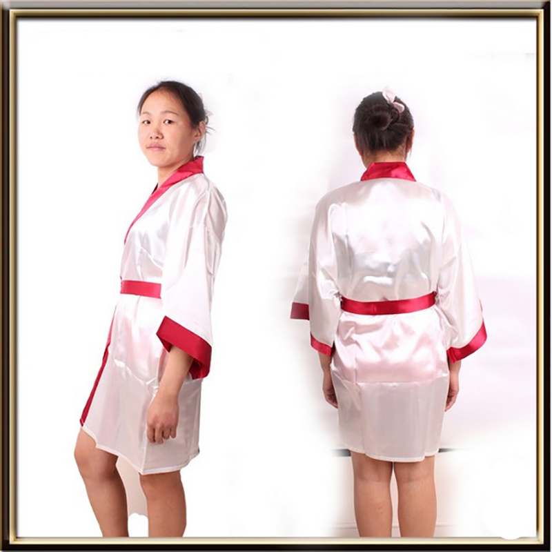 00a7a6c95f5 New Style Women s Patchwork Robe Pull Three Quarter Sleeve Satin Polyester  Sleep Lounge Robes Bride Bathrobe Bridesmaid Robes-in Robes from Underwear  ...