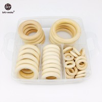 Let S Make Baby Maple Wooden Rings Set Baby Wooden Teether Food Grade DIY Nursing Baby