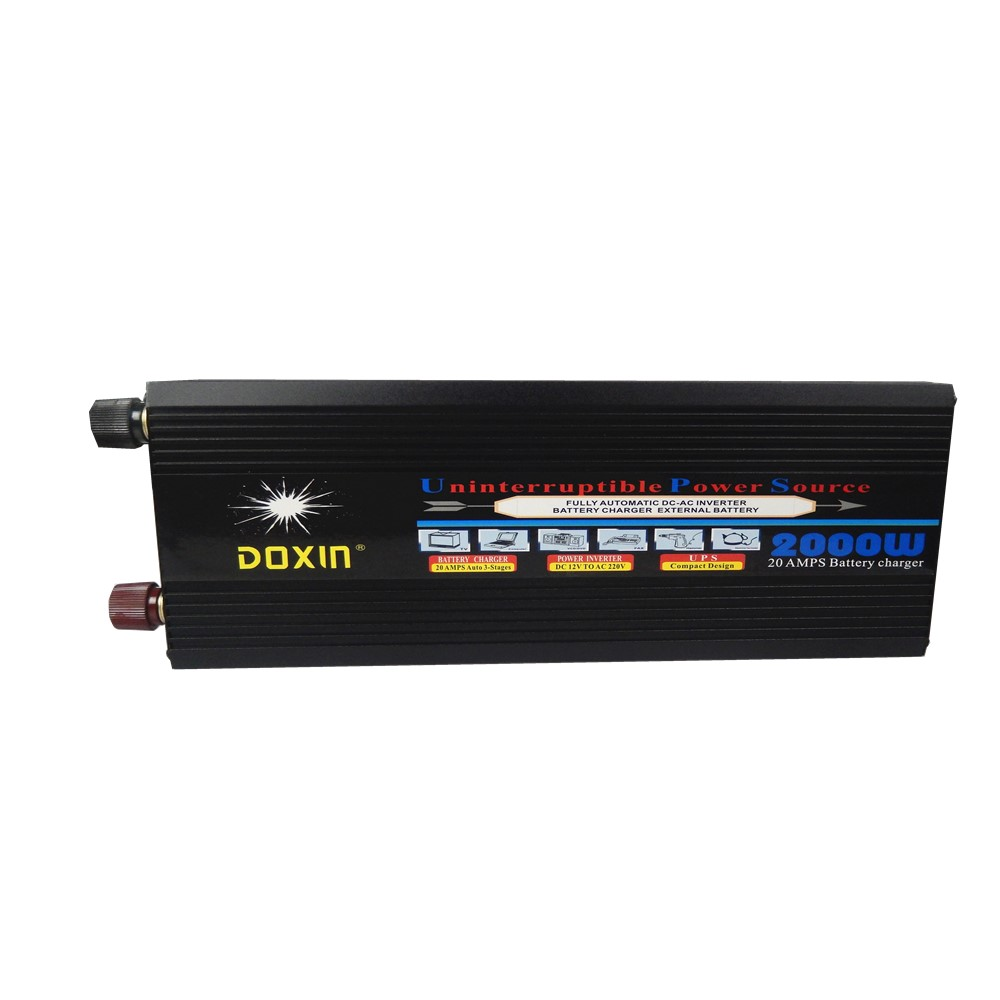 цена на high quality 2000W DC 12V to AC 220V modified wave UPS Power Inverter with charging battery function