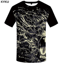 цена KYKU Brand Lion Shirt 3d T Shirt Short Sleeve Men Clothes Mens Clothing Funny T Shirts Hip Hop Tshirt Summer 2018 Casual Wear в интернет-магазинах