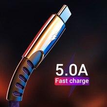 Usb タイプ C 急速充電 usb c ケーブルタイプ c データコード電話の充電器 USB タイプ C デバイスナイロン編組高速充電コード