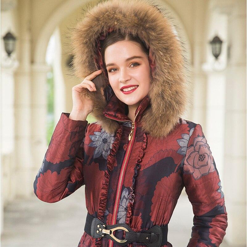 Taille Collier Coton Fourrure S Plus Chapeau Long La Espace Maxi 4xl Manteau X 9063 Parka long Longue D'hiver Femmes Jacquard De qSwx4XFHn6