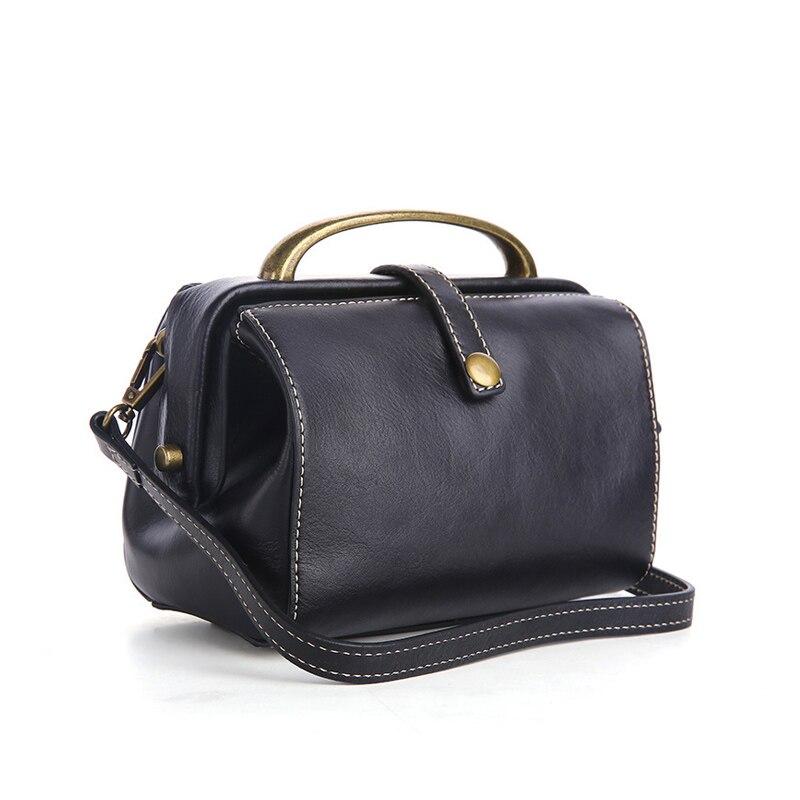 100% sacs à main en cuir véritable femmes sacs en cuir de vache femmes sac de médecin rétro sac souple en cuir véritable sacs à bandoulière dames sac à bandoulière