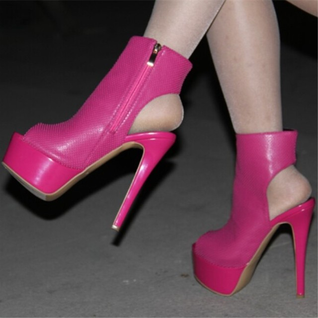 0d5795ff928 SHOFOO shoes,Beautiful fashion free shipping, 14.5 cm high heel boots,  ankle boots, peep toe boots.women boots.SIZE:34-45