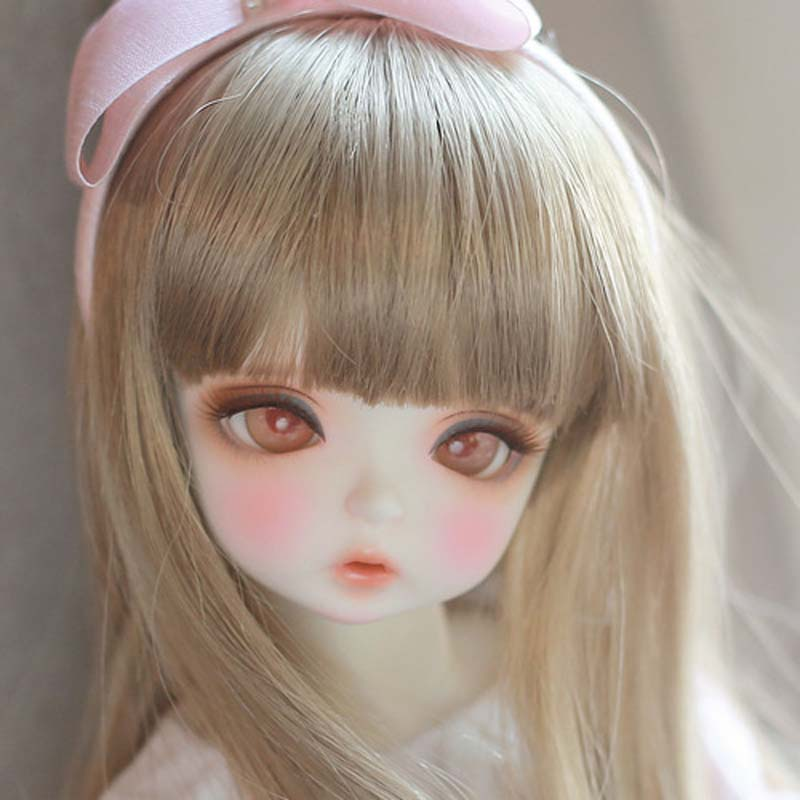 Free Shipping 1/4 BJD Doll BJD/SD Beautiful Karens Resin Doll With Free Eyes For Baby Girl Gift Present pink wool coat doll clothes with belt for 18 american girl doll