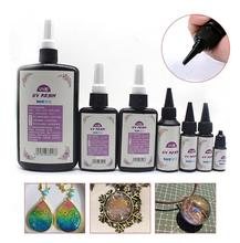 Diy Hot DIY Craft Strong Glue Ultraviolet UV Resin Cure Solution Quick-drying Sunlight Activated Adhesive Glue Hard Curing Resin Gel free shipping50g kafuter uv glue uv curing adhesive k 302 9led uv flashlight uv curing adhesive crystal glass and metal bonding