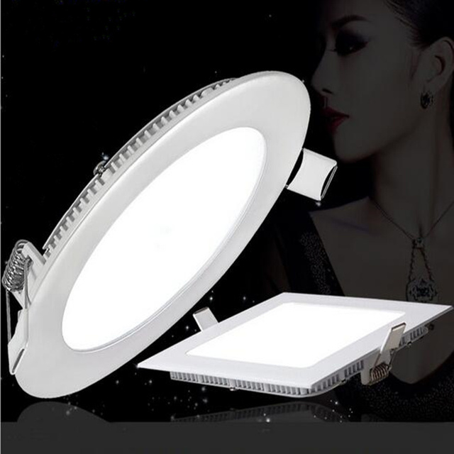 Hot Ultra Thin LED panel light square led panel downlight LED Ceiling Recessed Light indoor lighting AC220V 3W 4W 6W 9W 12w 15w